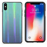 BackCover Aurora Glass für Apple iPhone Xs Max Blue
