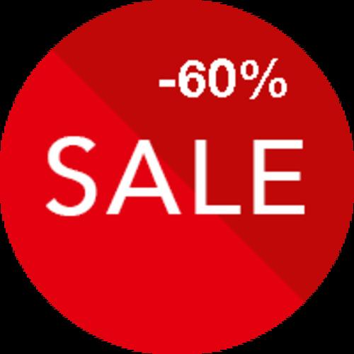 Sale 60% korting