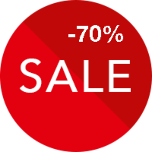 Sale 70% korting