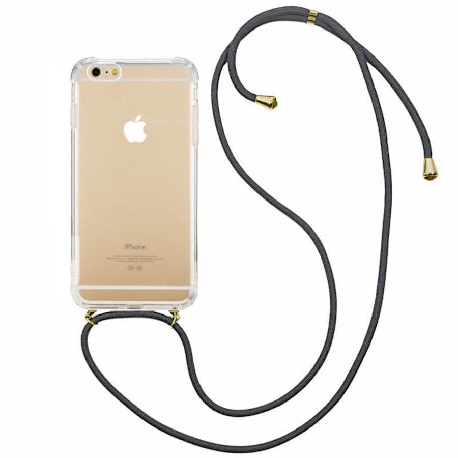 Backcover Shockproof Koord TPU + PC voor Apple iPhone 8 Plus/7 Plus Transparant