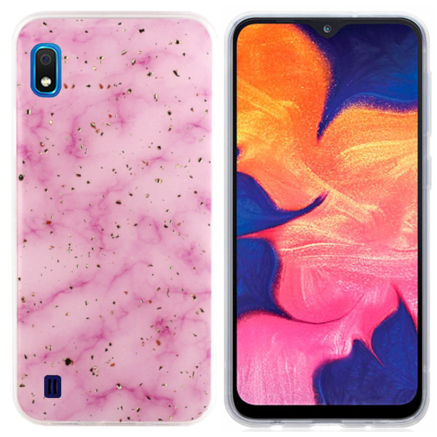 BackCover Marble Glitter voor Samsung A10/M10 Roze