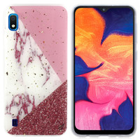 BackCover Marble Glitter voor Samsung A10/M10 Wit