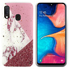 Colorfone BackCover Marble Glitter voor Samsung A40 Wit
