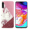 Colorfone BackCover Marble Glitter voor Samsung A70 Wit