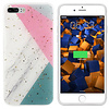 Colorfone BackCover Marble Glitter voor Apple iPhone 8 Plus/7 Plus Grijs