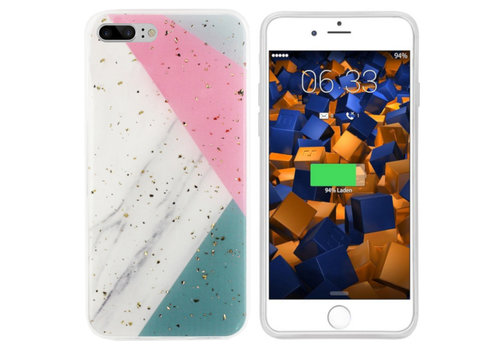 Colorfone Marble Glitter iPhone 8 Plus/7 Plus Grijs