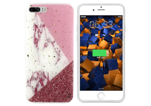 Colorfone Marmor Glitter iPhone 8 Plus / 7 Plus Weiß