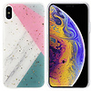 Colorfone BackCover Marble Glitter voor Apple iPhone Xs Max Grijs