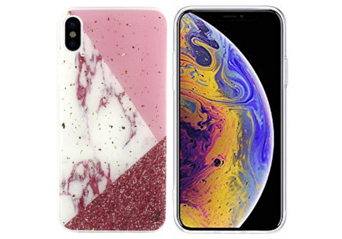 Colorfone Marble Glitter iPhone X / Xs White