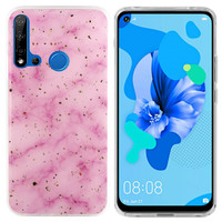 BackCover Marble Glitter voor Huawei P20 Lite 2019 Roze
