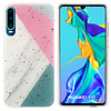 Colorfone BackCover Marble Glitter voor Huawei P30 Grijs