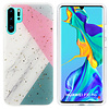 Colorfone BackCover Marble Glitter voor Huawei P30 Pro Grijs