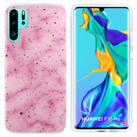 BackCover Marble Glitter voor Huawei P30 Pro Roze