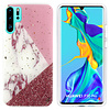 Colorfone BackCover Marble Glitter voor Huawei P30 Pro Wit