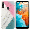 Colorfone BackCover Marble Glitter voor Huawei P Smart Plus 2019 Grijs