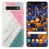 Colorfone BackCover Marble Glitter voor Samsung S10 Plus Grijs