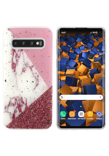 Colorfone Marble Glitter S10 Plus Wit