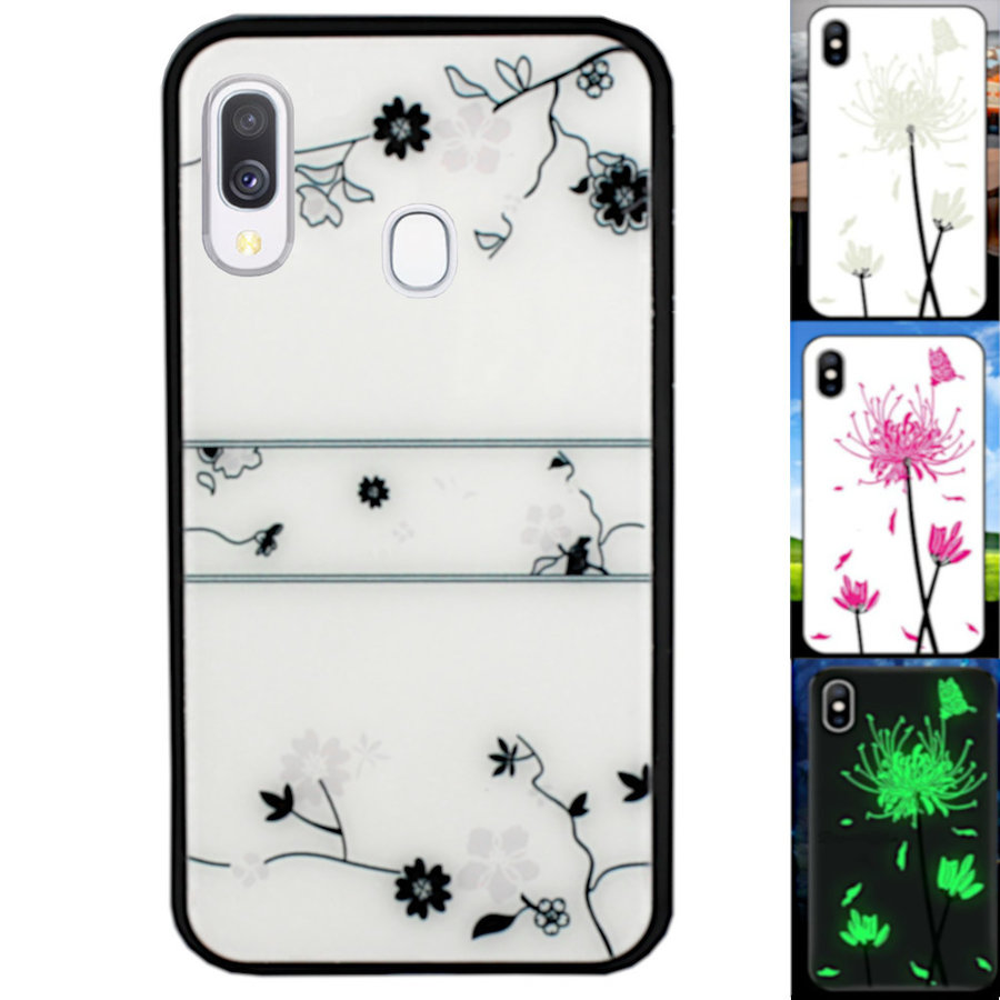 BackCover Magic Glass voor Samsung A20/A30 Roos