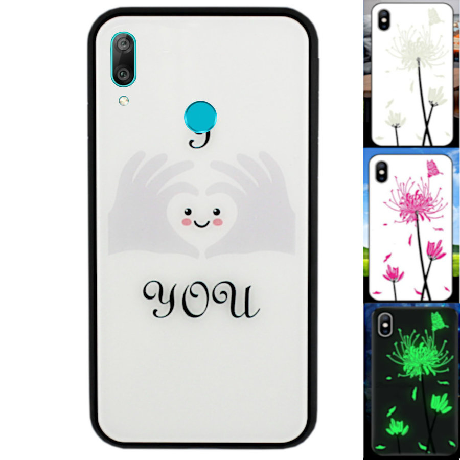 BackCover Magic Glass voor Huawei Y7 2019 Hart