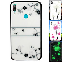 BackCover Magic Glass voor Huawei Y7 2019 Roos
