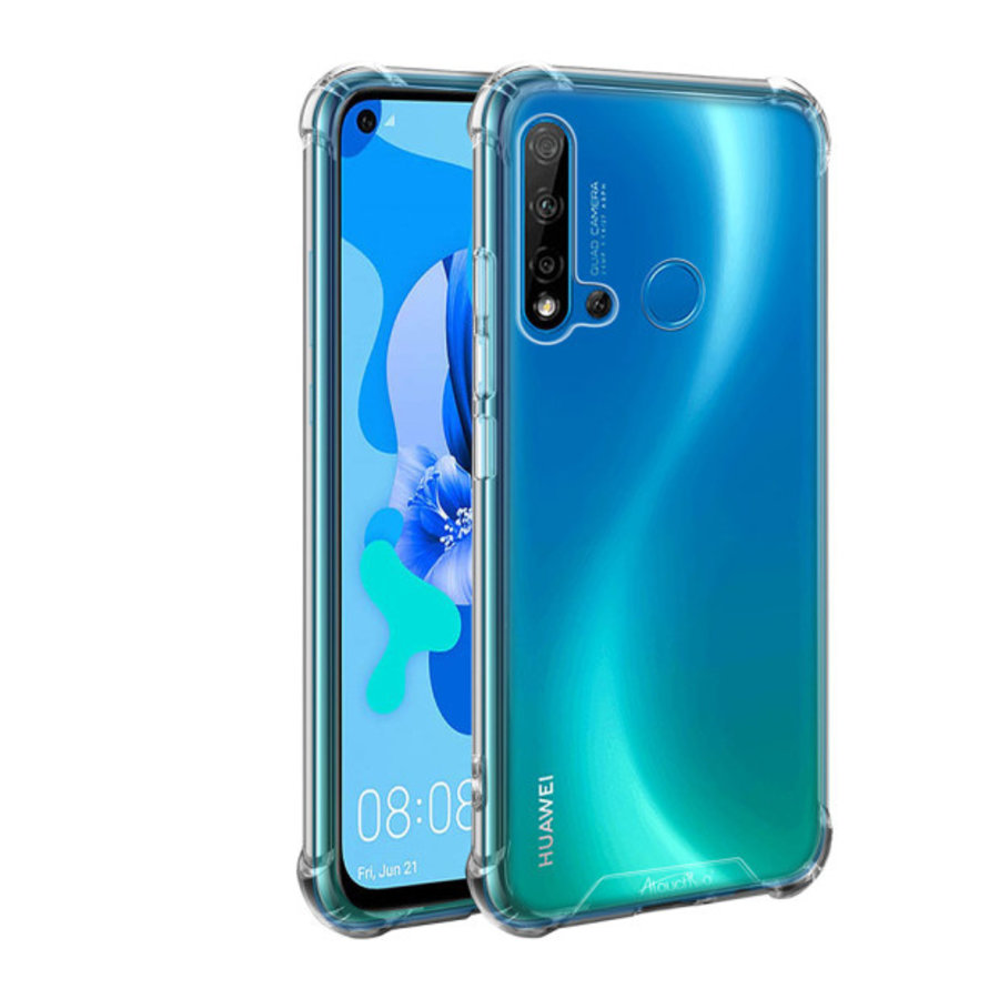Backcover Anti-Shock TPU + PC voor Huawei P20 Lite 2019 Transparant