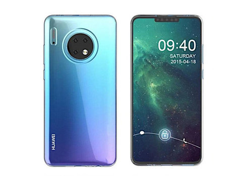 Colorfone CoolSkin3T Mate 30 Transparant Wit