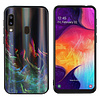 Colorfone BackCover Aurora Glass voor Samsung A40 Groen