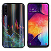 Colorfone BackCover Aurora Glass voor Samsung A50 Groen
