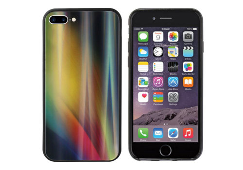 Colorfone Aurora Glass iPhone 8 Plus/7 Plus Geel