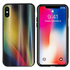 Colorfone BackCover Aurora Glass voor Apple iPhone Xs Max Geel