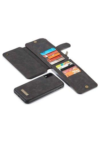 CaseMe 2 in 1 Zipper Wallet voor iPhone 11 Zwart