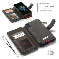 2 in 1 Zipper Wallet für iPhone 11 Schwarz