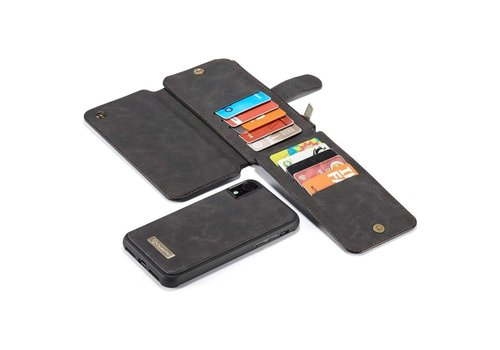 CaseMe 2 in 1 Zipper Wallet voor iPhone 11 Pro Max Zwart