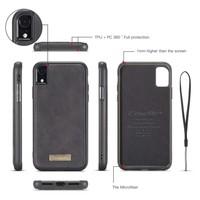 2 in 1 Zipper Wallet voor iPhone 11 Pro Max Zwart