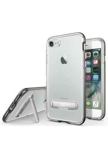 Colorfone Ständer iPhone 8 Plus / 7 Plus Transparent Schwarz