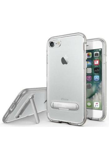 Colorfone Kickstand iPhone 8 Plus/7 Plus Transparant Zilver