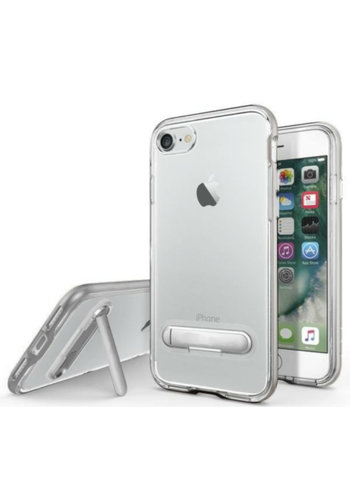 Colorfone Ständer iPhone 8 Plus / 7 Plus Transparent Silber