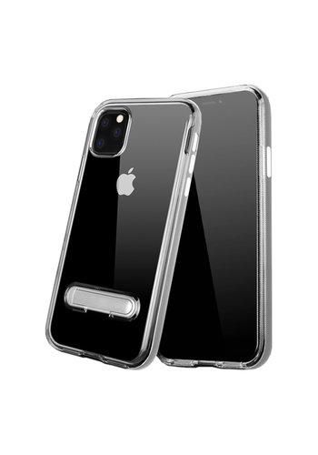 Colorfone Kickstand iPhone 11 Pro Max (6.5) Transparant Zilver