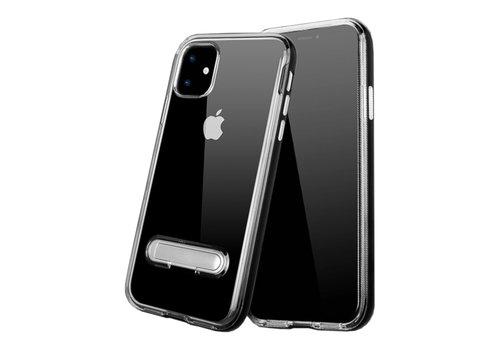 Colorfone Kickstand iPhone 11 (6.1) Transparant Zwart