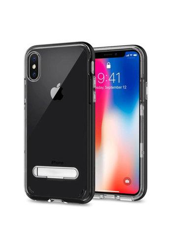 Colorfone Ständer iPhone X / XS Transparent Schwarz