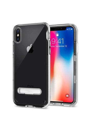 Colorfone Kickstand iPhone X/XS Transparant Zilver