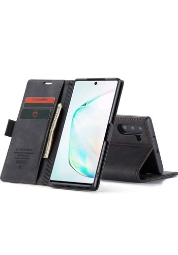 CaseMe Portfel Retro Slim do Note 10 Czarny