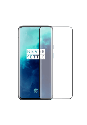 Colorfone Glas gebogen OnePlus 7T Pro Schwarz (Halbkleber)
