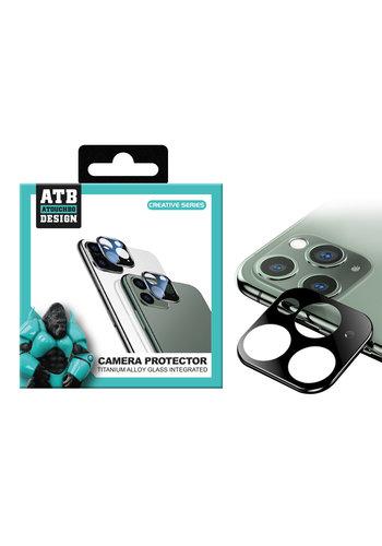 ATB Design Osłona obiektywu aparatu ze szkła hartowanego Titanium + iPhone 11 Pro / 11 Pro Max, czarna