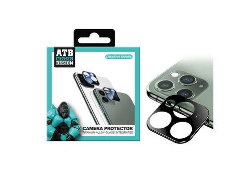 ATB Design Titane + verre trempé protecteur d'objectif de caméra iphone 11 Pro/11 Pro Max Argent