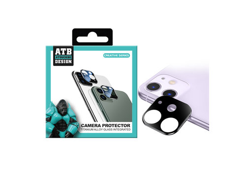 ATB Design Titan + gehärtetes Glas Kamera Objektivschutz iPhone 11 Silber
