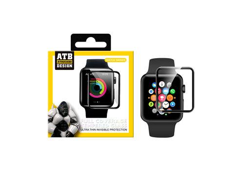 ATB Design Montre Apple Full Cover en verre trempé 40mm