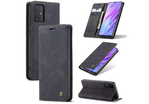 CaseMe Retro Wallet Slim voor S20 Ultra Zwart