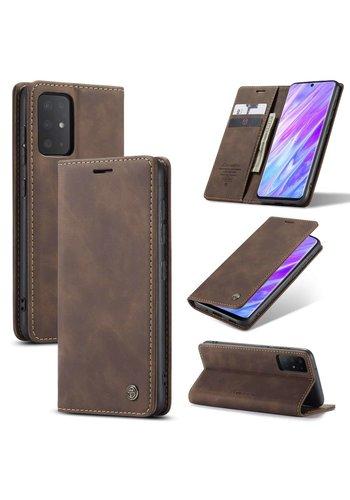 CaseMe Retro Wallet Slim voor S20 Bruin