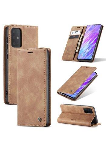 CaseMe Retro Wallet Slim voor S20 Plus L.Bruin